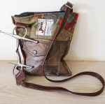 Snaffle Full Cheek Bit Leather & Tweed Handbag - Joey D