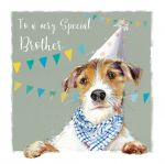 Birthday Card - Brother - Terrier Dog - The Wildlife Ling Design