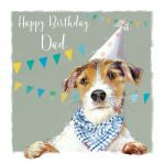 Birthday Card - Dad - Terrier Dog - The Wildlife Ling Design