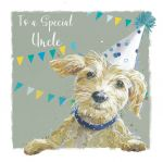 Birthday Card - Uncle - Scruffy Dog - The Wildlife Ling Design