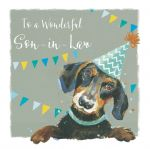 Birthday Card - Son-in-Law - Dachshund Sausage Dog - The Wildlife Ling Design