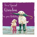 Birthday Card - Grandma - Golden Retriever Dog - The Wildlife Ling Design