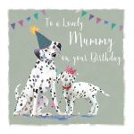 Birthday Card - Mummy - Dalmatian Dog - The Wildlife Ling Design
