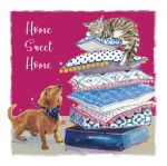 New Home Card - Home Sweet Home - Cat & Dog - The Wildlife Ling Design