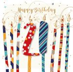 21st Birthday Card - Male Candles - Jupiter - Talking Pictures