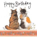 Birthday Card - Cat Tortoiseshell - Sparkle - Alex Clark