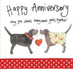 Wedding Anniversary Card - Dogs - Sparkle - Alex Clark