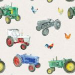 Vintage Tractor Wrapping Paper Sheets & Tags - Arty Penguin