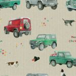 Christmas 4x4 Defender Land Rover Wrapping Paper Sheets & Tags - Arty Penguin