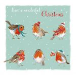 Christmas Card - Robins - The Wildlife Ling Design