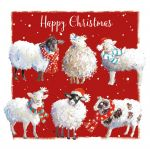 Christmas Card - Woolly Friends Sheep - The Wildlife Ling Design
