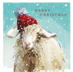 Christmas Card - Woolie Hat Winter Sheep - Ling Design