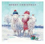 Christmas Card - Keeping Cosy Winter Sheep - Ling Design