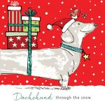 Christmas Card - Dachshund through the snow - Xmas Friends Dogs - Ling Design