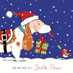 Christmas Card - Ho Ho Ho Bassett - Xmas Friends Dogs - Ling Design
