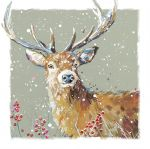 Christmas Card - Xmas Stag Ling Design