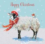 Charity Christmas Card Pack - 6 Cards Winter Wooly Sheep - Ling Design