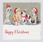 Charity Christmas Card Pack - 6 Cards Purr-fect Day Cats - Ling Design