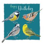 Birthday Card - Garden Birds - The Wildlife Ling Design
