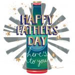 Father's Day Card - Beer Bottle - Foiled - Fifth Avenue Talking Pictures