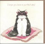 Birthday Card - Purrfect Day - Black Cat - Angie Thomas