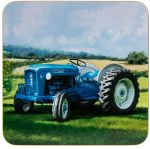 Vintage Tractor Blue Ford Design Coaster