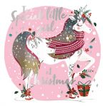 Christmas Card - Special Little Girl - Unicorn - Talking Pictures