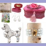 Velvet Rose Jewellery Box With Accessories Gift Set - Free Gift Bag