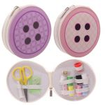 Handy Button Shaped Sewing Kit with 15 items
