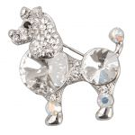 Diamanté Poodle Dog Brooch
