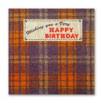 Happy Birthday Card - Male - Tweed