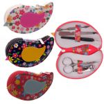 Manicure Set Flower Pattern Bird - 3 colours