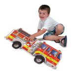 Melissa & Doug Fire Engine Giant Floor Puzzle Jigsaw - 24 pieces