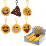 Emoji Face Sound Plush Keyring