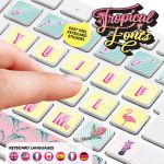 Flamingo Tropical Fonts Keyboard Stickers