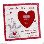 Heart Picture Frame - For the One I Love - Valentine's Day
