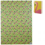 Flamingo & Pineapple Tropical Gift Wrapping Paper Sheet & Tag