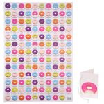 Doughnut Design Gift Wrapping Paper Sheet & Tag