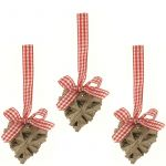 Heart Willow Christmas Tree Decoration Set of 3 - Small