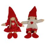 Christmas Decoration Red Doll Boy & Girl
