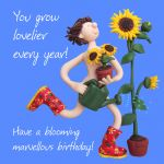 Birthday Card - Rude Funny Humour Blooming Gardener One Lump Or Two