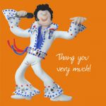 Thank you Card - Elvis Funny Humour One Lump Or Two