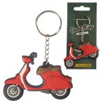 Scooter Moped Vespa Novelty Red Keyring