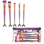 Mermaid Tail Handy 5 Piece Make Up Brush Set