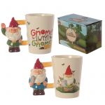 Gnome Ceramic Novelty Mug - Blue & Green