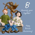 Wedding Anniversary Card - 8th Eight 8 Years Bronze One Lump Or Two