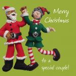 Christmas Card - Special Couple - One Lump Or Two