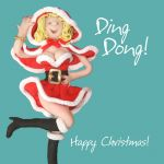 Christmas Card - Ding Dong - Funny Humour One Lump Or Two