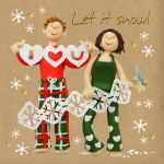 Christmas Card - I Love You - Let it Snow - Three French Hens - Foiling Funny