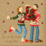 Christmas Card - You're the Tinsel on my Tree - Three French Hens